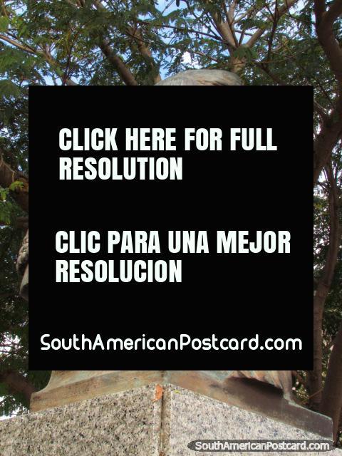Monument to San Martin in Colonia del Sacramento. (480x640px). Uruguay, South America.