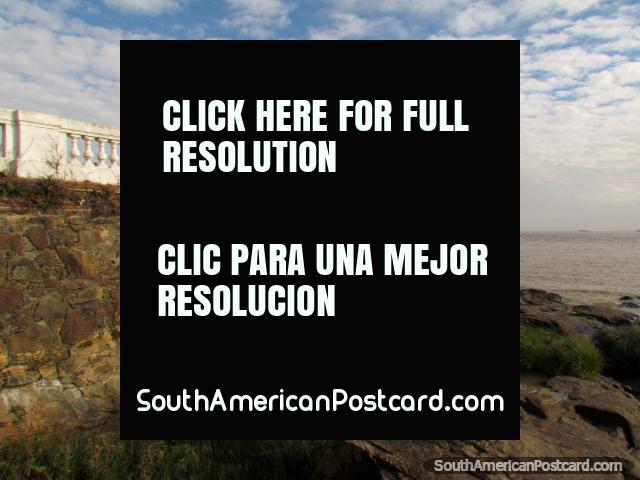 Santa Rita Bastion and the Rio de la Plata, Colonia. (640x480px). Uruguay, South America.