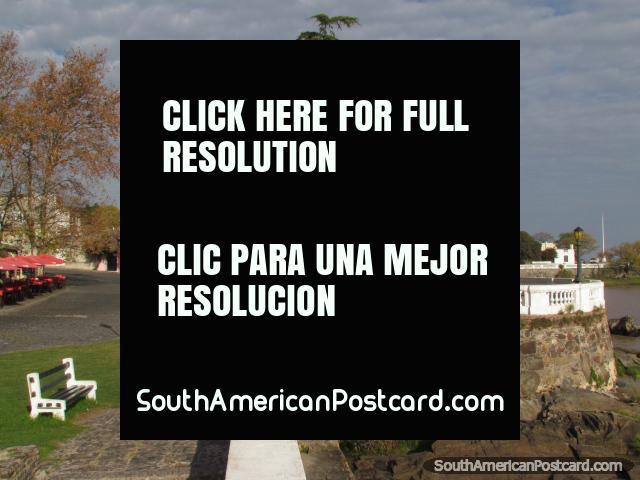 Walkways and area around Santa Rita Bastion in Colonia del Sacramento. (640x480px). Uruguay, South America.