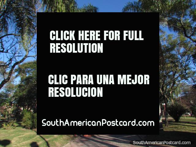Plaza 19 de Abril, the main square in Tacuarembo. (640x480px). Uruguay, South America.