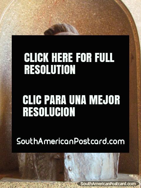 Jaime Ros cast, founder of the Santa Cruz church in Tacuarembo. (480x640px). Uruguay, South America.