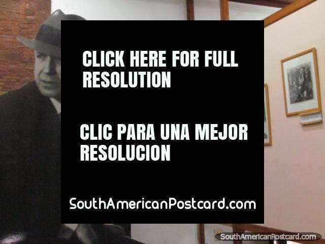 Photos of the life of Carlos Gardel at the museum in Tacuarembo. (640x480px). Uruguay, South America.