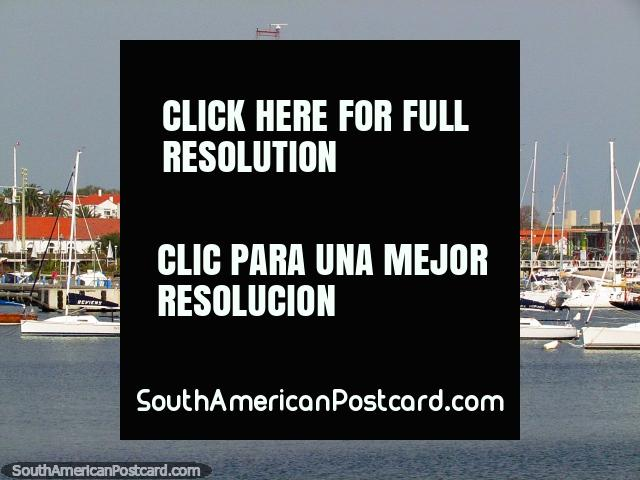 The calm side, the port of Punta del Este, boats in the water and historical area. (640x480px). Uruguay, South America.