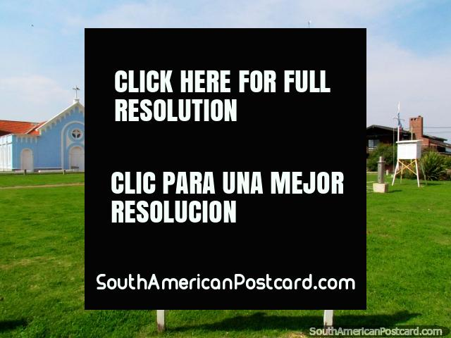The grassy lawns at the weather station in Punta del Este. (640x480px). Uruguay, South America.