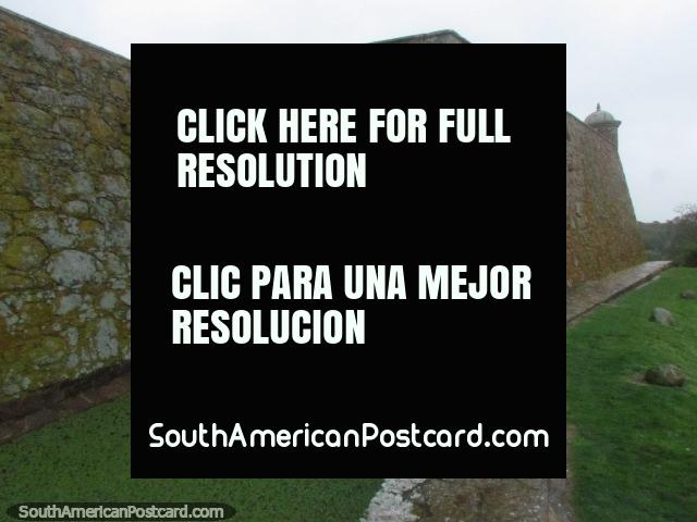 Outside stone wall and moat at Fort San Miguel in Chuy. (640x480px). Uruguay, South America.