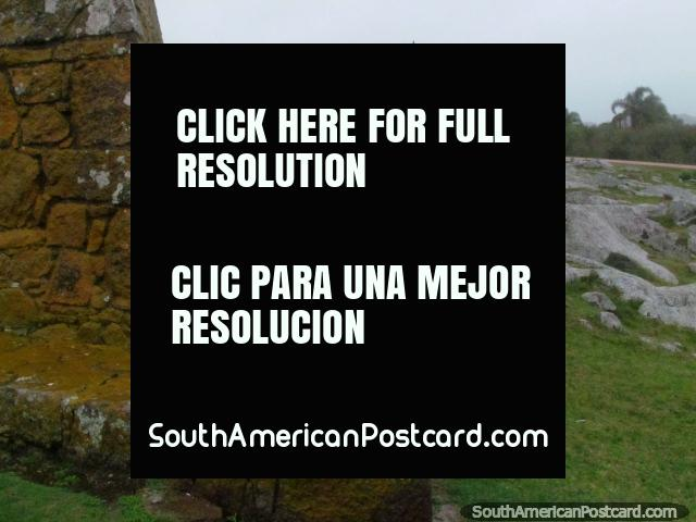 The outside of Fort San Miguel with rock garden in Chuy. (640x480px). Uruguay, South America.