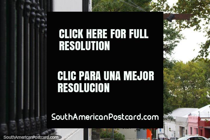 An image of famous tango dancer Carlos Gardel along the street in Colonia del Sacramento. (720x480px). Uruguay, South America.