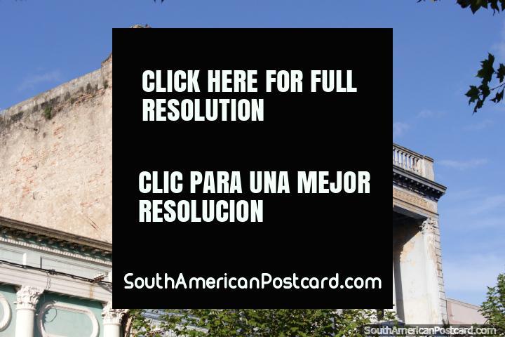 Edificio Stella D-Italia, under restoration, historical building in Fray Bentos. (720x480px). Uruguay, South America.