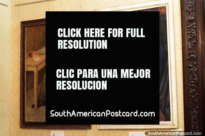 Painting called Figuras by Aguerre Ricardo at the fine arts museum - Maria Irene Olarreaga Gallino, Salto. (720x480px). Uruguay, South America.
