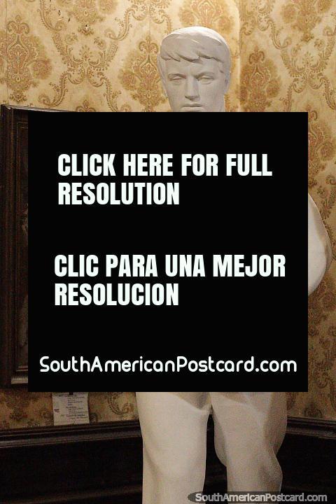 Plaster cast called El Sembrador from 1940 by Edmundo Prati, fine arts museum, Salto. (480x720px). Uruguay, South America.