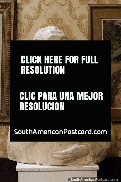Plaster cast of a young man at the fine arts museum in Salto - Maria Irene Olarreaga Gallino. (480x720px). Uruguay, South America.