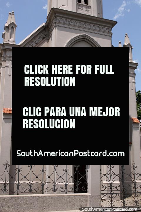 New church built in 1976 in Mercedes - Iglesia de Maria Auxiliadora. (480x720px). Uruguay, South America.