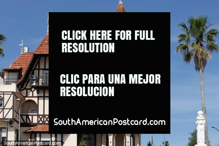 Hotel Colon (1910) in Piriapolis with a combination of medieval and French Renaissance styles. (720x480px). Uruguay, South America.