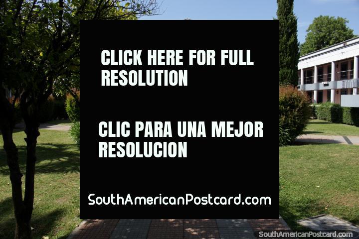 Paseo San Fernando in Maldonado with fountain, lawns and gardens, a site of memory. (720x480px). Uruguay, South America.