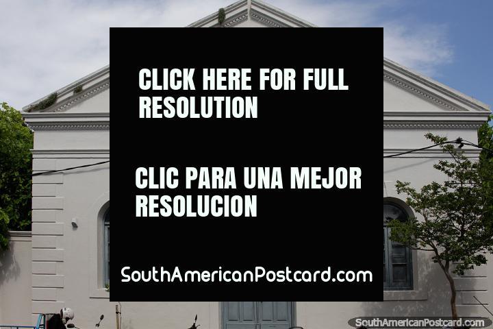 Ramirez School started in 1946, the building was built in 1875, historic circuit, Maldonado. (720x480px). Uruguay, South America.