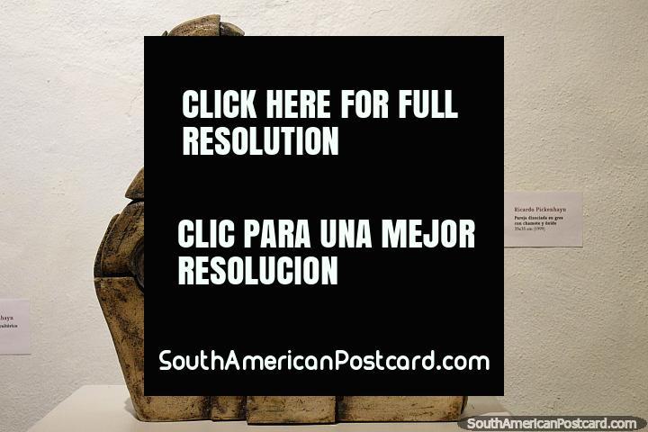 Art piece made from stone with grog and rust (1999) by Ricardo Pickenhayn, Mazzoni Museum, Maldonado. (720x480px). Uruguay, South America.