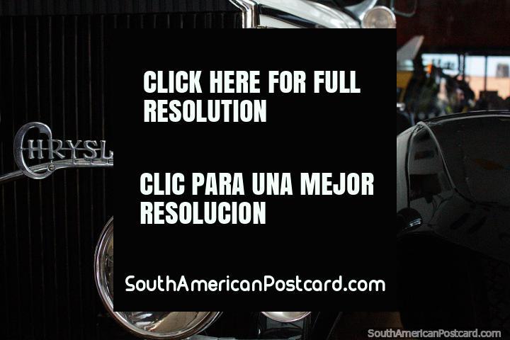 Chrysler vintage car in the art gallery and games hall at La Vista in Punta del Este. (720x480px). Uruguay, South America.