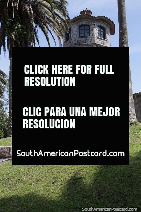 Watchtower made of stone, Capatacia at Santa Teresa National Park, Punta del Diablo. (480x720px). Uruguay, South America.