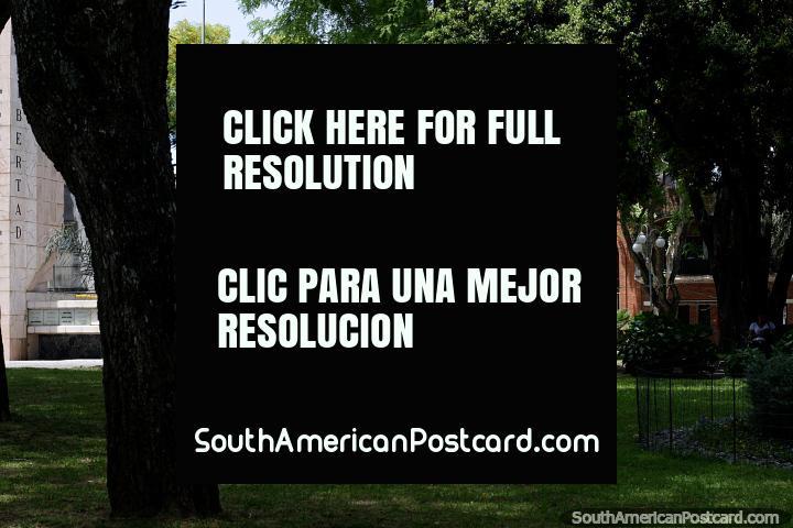 Parroquia San Jose Obrero (1976), view from the plaza in Treinta y Tres. (720x480px). Uruguay, South America.