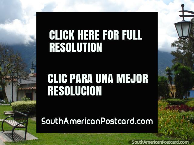 The gardens of Plaza Sucre in Merida. (640x480px). Venezuela, South America.