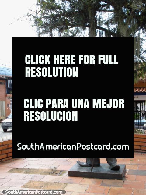 Monument to Charlie Chaplin at Plaza Charlie in Merida. (480x640px). Venezuela, South America.