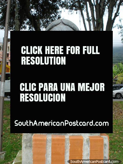 Maria Teresa Rodriguez de Toro y Alaiza monument, wife of Simon Bolivar, Merida. (480x640px). Venezuela, South America.
