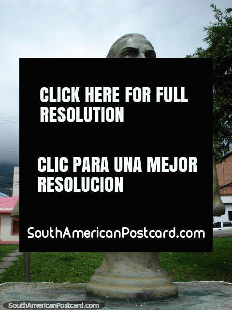 Antonio Nicolas Briceno monument, Doctor and Congressman in Merida. (480x640px). Venezuela, South America.