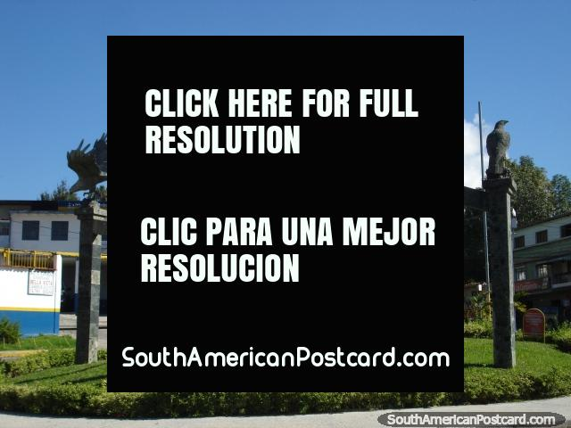 5 eagles monument out of Merida on the El Paramo tour. (640x480px). Venezuela, South America.