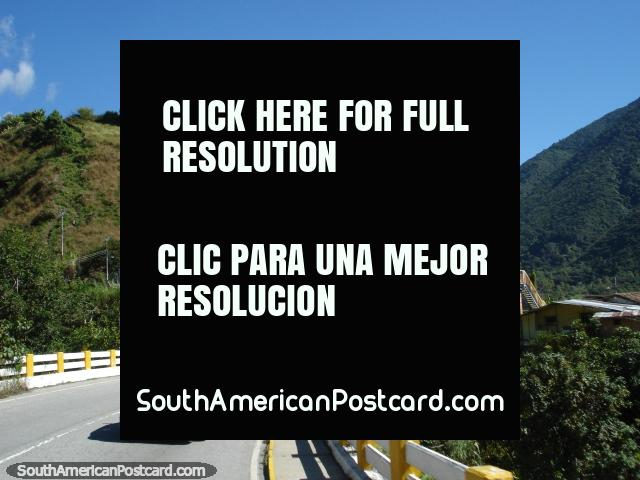 Traveling across a bridge on the El Paramo road from Merida. (640x480px). Venezuela, South America.