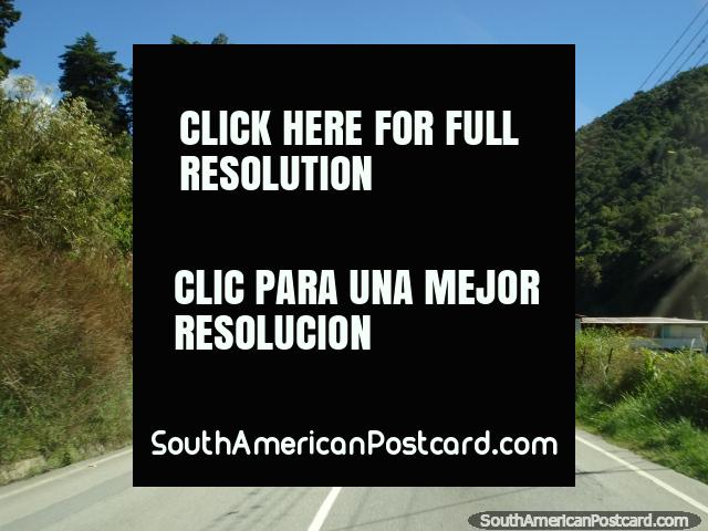 The Transandina highway through the mountains around Merida. (640x480px). Venezuela, South America.