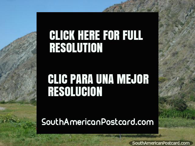 Bolivar was the 1st to make Venezuela independent, Chavez was the 2nd, billboard north of Merida. (640x480px). Venezuela, South America.