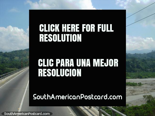 Crossing the bridge over the river north of Merida. (640x480px). Venezuela, South America.