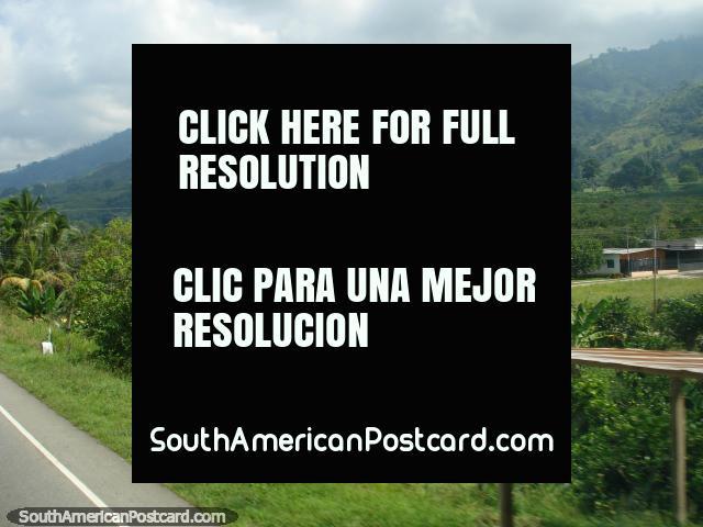 Houses and countryside between Merida and Maracaibo. (640x480px). Venezuela, South America.