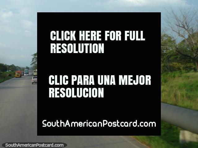 The oil pipeline runs beside the road around Lake Maracaibo. (640x480px). Venezuela, South America.