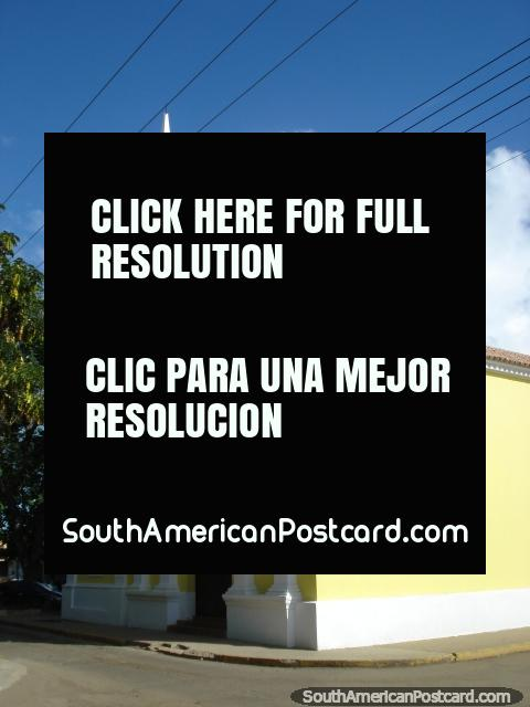 Yellow church Iglesia de San Gabriel in Coro. (480x640px). Venezuela, South America.