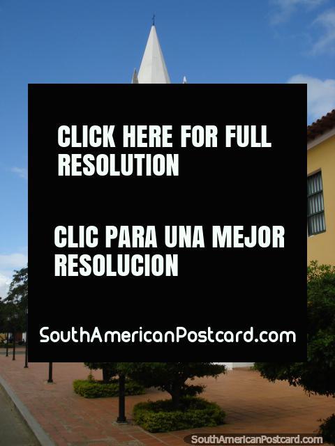 Mustard colored church Iglesia de San Francisco in Coro. (480x640px). Venezuela, South America.