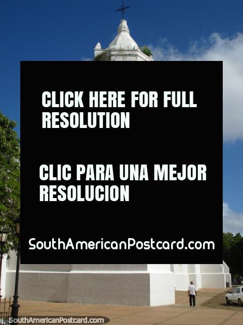 The big white church in the historical center of Coro. (480x640px). Venezuela, South America.