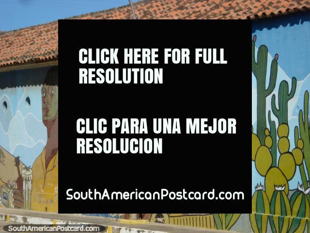 Mural en Coro de 3 figuras importantes incluyendo el músico Ali Primera. (640x480px). Venezuela, Sudamerica.