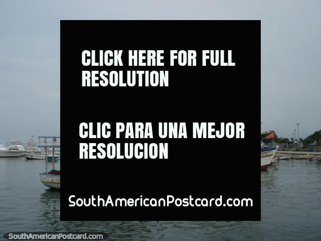 Boats with Venezuelan flags docked at Puerto Cabello. (640x480px). Venezuela, South America.