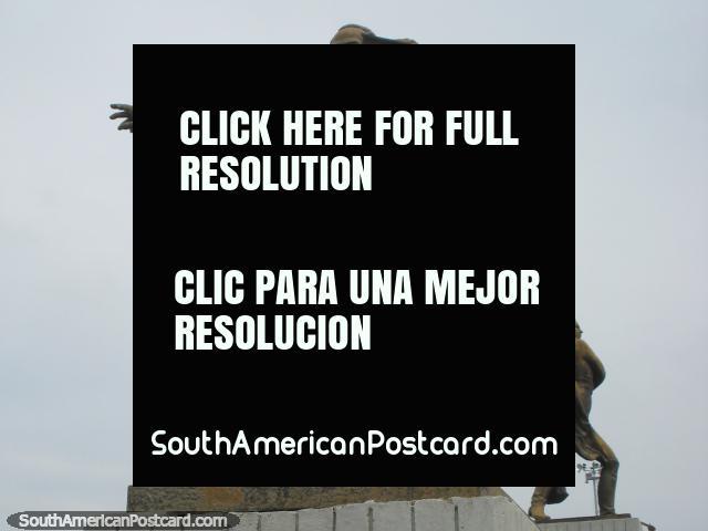 Jose Marti (1853-1895) monumento, herói nacional cubano e impt. figura na literatura em Porto Cabello. (640x480px). Venezuela, América do Sul.