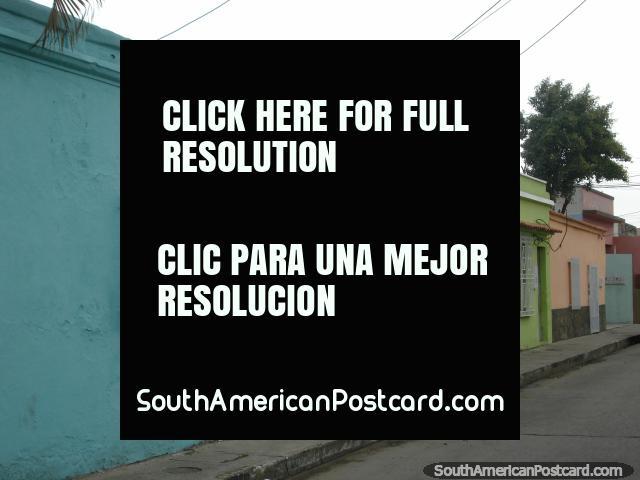 Casas de cerceta común, verde y naranja en Puerto Cabello. (640x480px). Venezuela, Sudamerica.