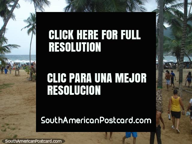 Arriving at the beach Playa Grande in Puerto Colombia. (640x480px). Venezuela, South America.