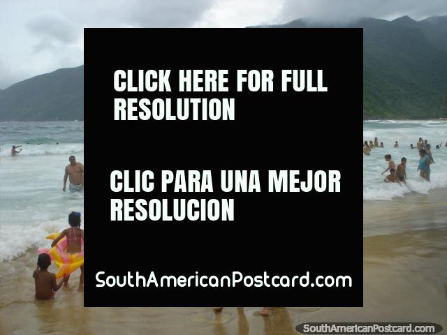 Venezuelans flock to Puerto Colombia for holidays to enjoy the beach and coast. (640x480px). Venezuela, South America.