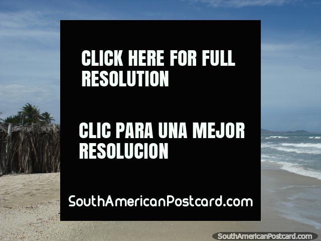 The beach looking towards the west at La Restinga on Isla Margarita. (640x480px). Venezuela, South America.