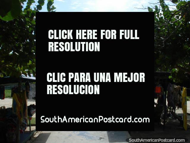 Souvenirs, looking towards the jetty arrival area at La Restinga. (640x480px). Venezuela, South America.