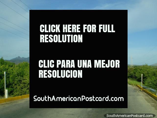 The road between La Restinga and Boca de Rio on Isla Margarita. (640x480px). Venezuela, South America.
