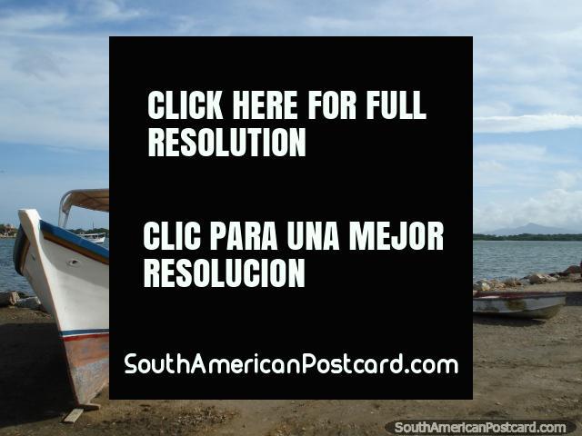 Barcos na praia, Boca de Rio, Ilha Margarita. (640x480px). Venezuela, América do Sul.