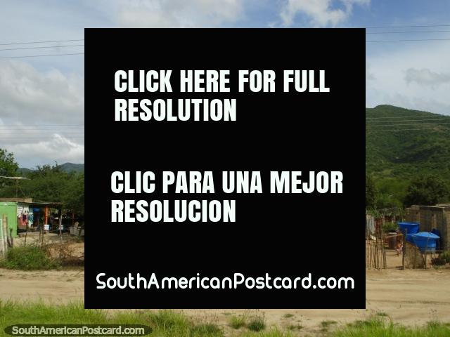 The countryside and mountains on the far west coast of Isla Margarita. (640x480px). Venezuela, South America.