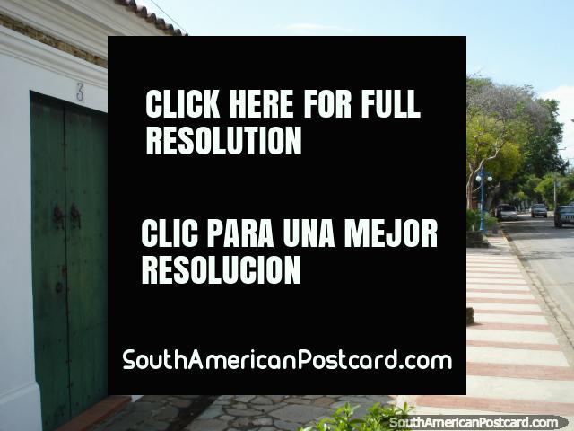 Street view near the castle in Pampatar, Isla Margarita. (640x480px). Venezuela, South America.