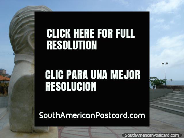 Monument to composer Vicente Cedeno (1844-1914) at Cedeno amplitheater in Pampatar, Isla Margarita. (640x480px). Venezuela, South America.